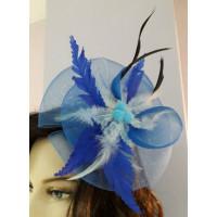 Мини -шляпка голубая