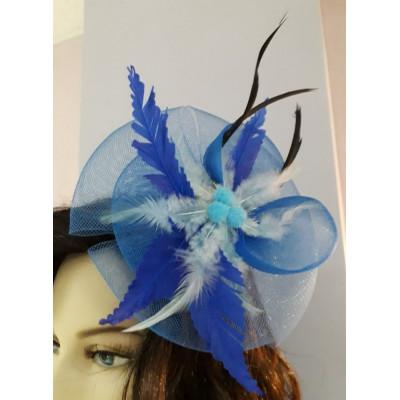 888, Мини -шляпка голубая, , 300 руб., 9465, , Прочее