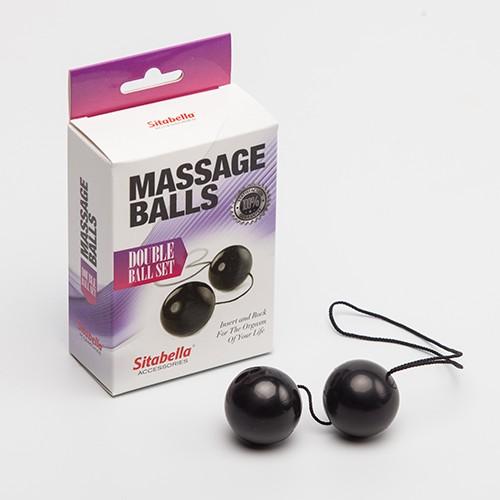 Sitabella Massage Balls Double Ball Set, черные, красные 259