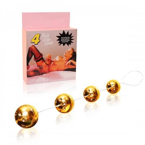 Вагинальные шарики - 4 GOLD BALLS 50177