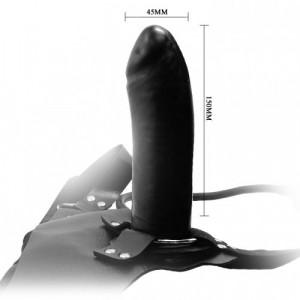 Страпон с вибрацией черного цвета BW-022043